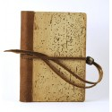 Quaderno - Diario cm 12x16,5 legno e pelle - Collezione Silvia