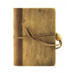 Quaderno - Diario cm 9x13 legno e pelle - Collezione Silvia